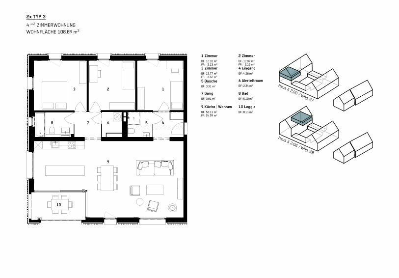 Wohnung Typ 3 - WBG Wittnau