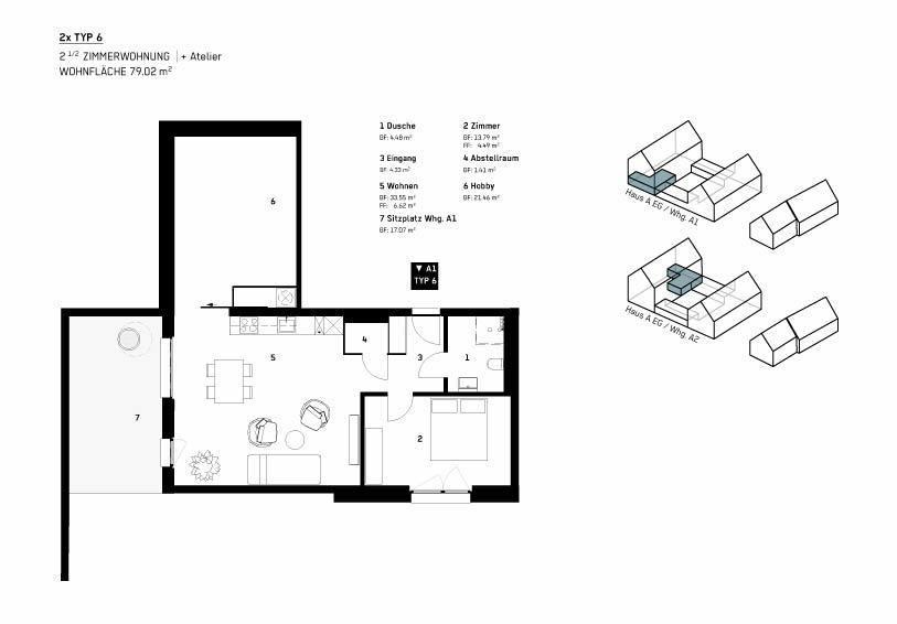 Wohnung Typ 6 - WBG Wittnau