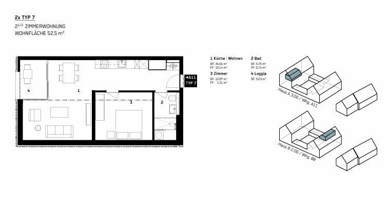 Wohnung Typ 7 - WBG Wittnau